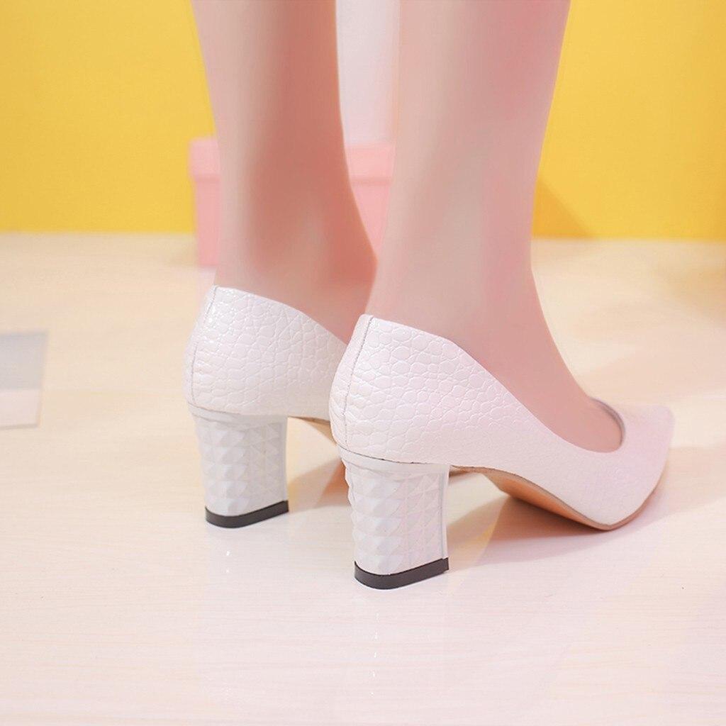 Partie Noir Solide Youyedian Mariée Chaussures Bout Sexy À blanc Hauts Mode 2019 De G25 Mariage Dames Talons rose Épaisse Femmes Pointu Simples HHz8qnS