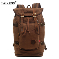 2018 New Fashion Men Backpack Vintage Canvas Backpack School Bag Men S Travel Bags Large Capacity