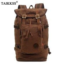 2019 New fashion men backpack vintage canvas backpack school bag men's travel bags large capacity travel backpack bag Wholesale