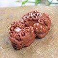 Natural gold sand stone Pixiu  beaded pendant ,fashion semi-preciouse gold sand beaded pendant charms