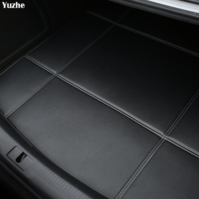 Yuzhe Car Trunk Mats For Mitsubishi Lancer 10 Outlander 2017 Pajero Eclipse asx Waterproof Carpets car accessories Cargo Liner