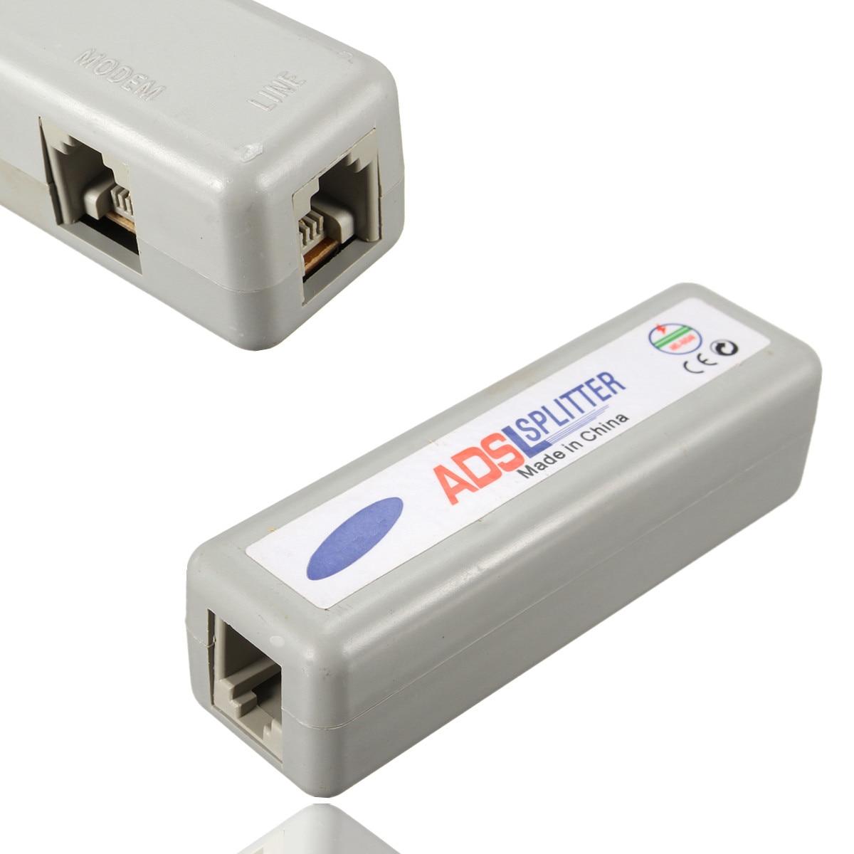 Wholesale RJ11 ADSL Line Splitter Fax Modem Broadband Phone Network Jack Noise Filter High Quality