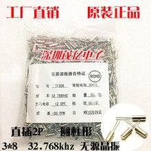 3*8 32.768 K Cristal Passiva 3 por 8 32.768 Khz Cilíndrico de Cristal Direto 308 32.768 Genuíno