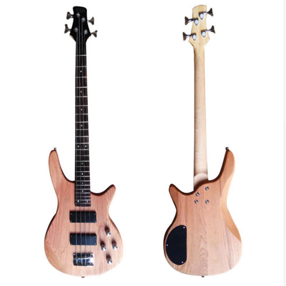 Guitare basse Yuker 39 ''rétro 24 frettes guitare électrique 4 cordes Guitarra corps d'orme touche en palissandre guitare basse pour débutant