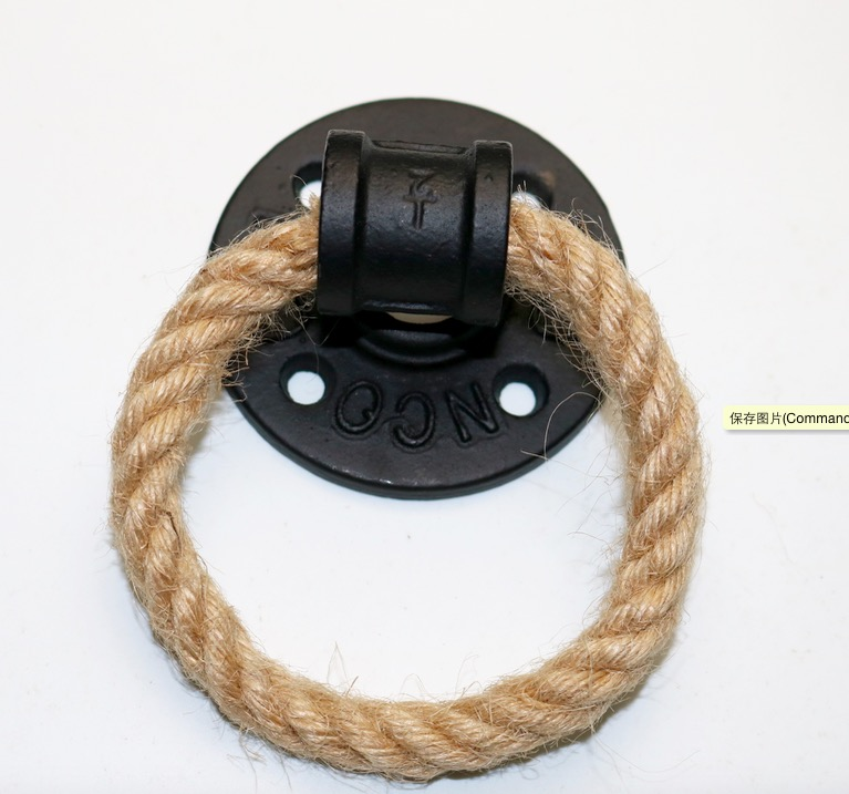 2Pieces/Lot Diameter:7cm  American Creative Flange Ring Door Handle Hemp Rope Furniture Handle