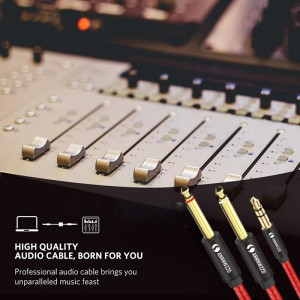 Image 3 - Audio Cable 3.5mm to Double 6.35mm Aux Cable 2 mono 6.5 Jack to 3.5 Male  for Phone to Mixer Amplifier 6.35 Adapter