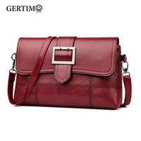 Brand Designer Women's Small Shoulder Bag Fashion Llittle Handbag Purse PU Leather Crossbody Bags for Women 2019 New Black&Red