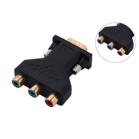 VGA to 3 RCA Adapter RGB Video Female to HD15-Pin VGA Converter Style Component Video Jack Adapter VGA Cables