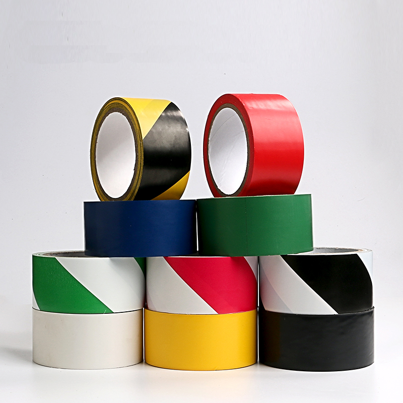 Ground tape PVC Warning isolation Crossed Positioning 5S logo Partition Black and yellow Zebra color flooring tape 22M