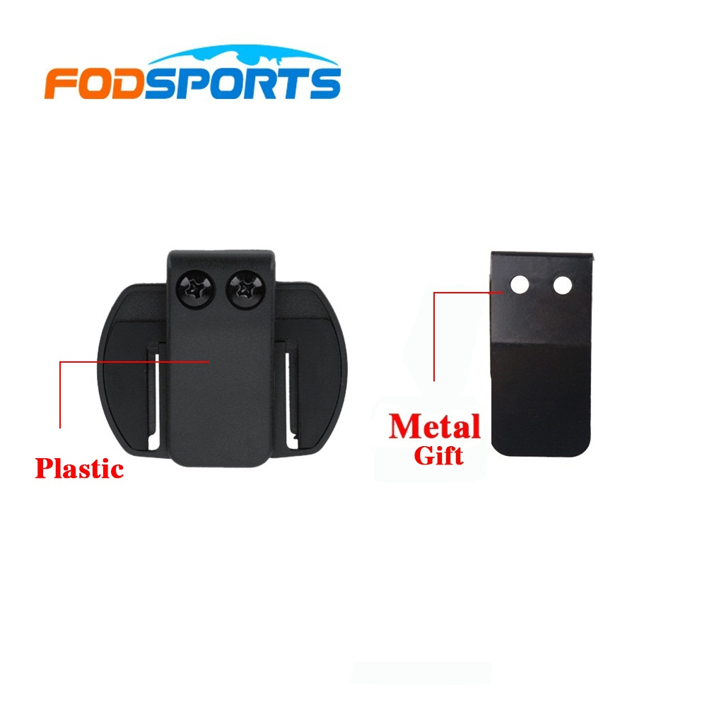 Metal Gasket +4 Pcs V6 Clip Bracket Suitable For BT Interphone Motorcycle Helmet Headset Intercom For V6 V4 V2-500C