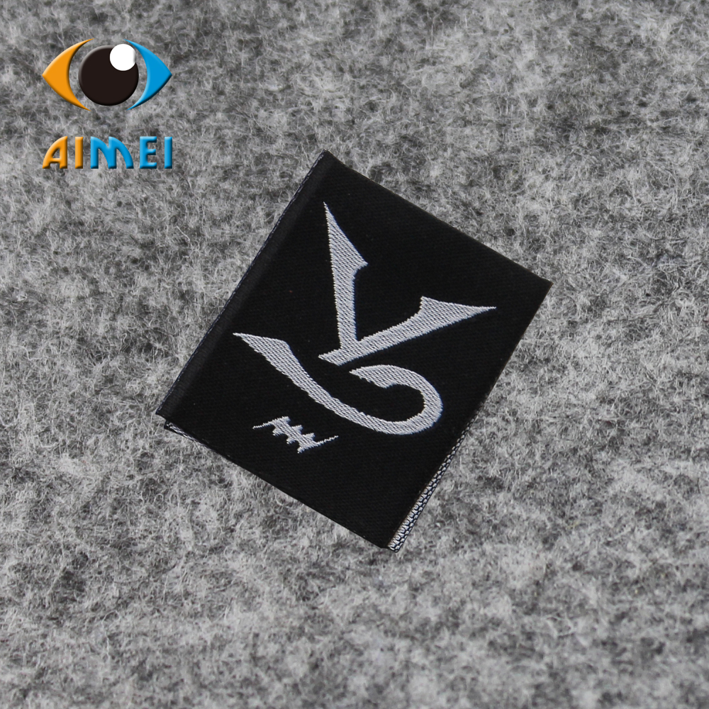 Customized clothing label for jacket custom fabric garment shirt shoe tag center fold woven labels with