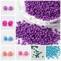 50g Opaco 2/3/4mm 6/0 8/0 12/0 Granos Flojos Del Espaciador de Cristal Pequeña Pequeña Semilla para La Joyería de DIY Diseño Colores Opacos