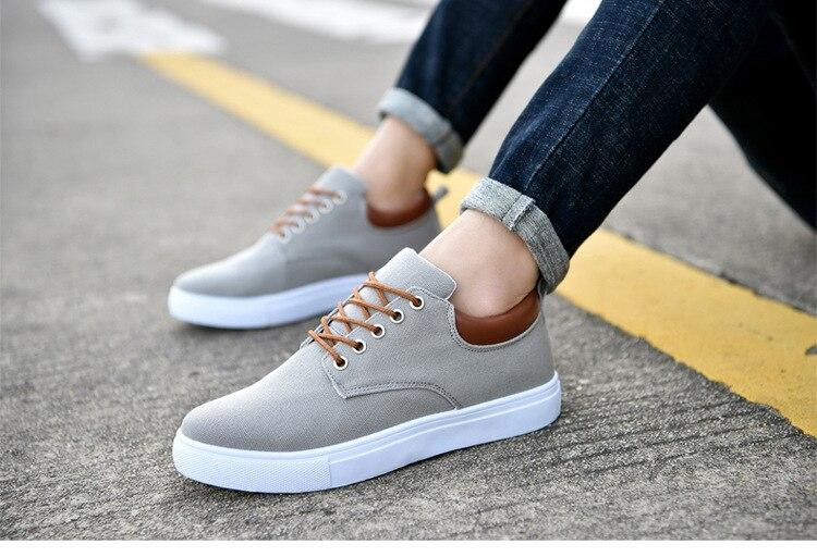 2018 Nova Moda Outono Inverno Homens Vulcanize Sapatos sapatas de Lona dos homens Sapatos Casuais Sapatos Respirável Flats sneakers Big Size 38 -46