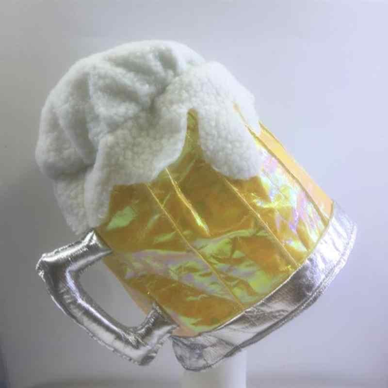 1 шт., забавное пиво, шапка, праздничный головной убор, вечерние аксессуары, вечерние принадлежности для тематики, вечерние, для дня рождения, для футбола