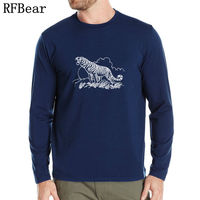 RFBEAR Brand Cotton T Shirt New Autumn And Winter Man Fashion T Shirt Spring Long Sleeved