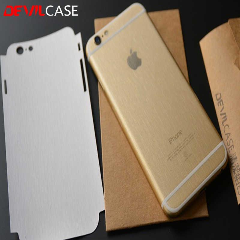 d1bee127d8e Funda transparente trasera y pegatina lateral para iPhone 6 Plus y 6 s Plus  diseño de