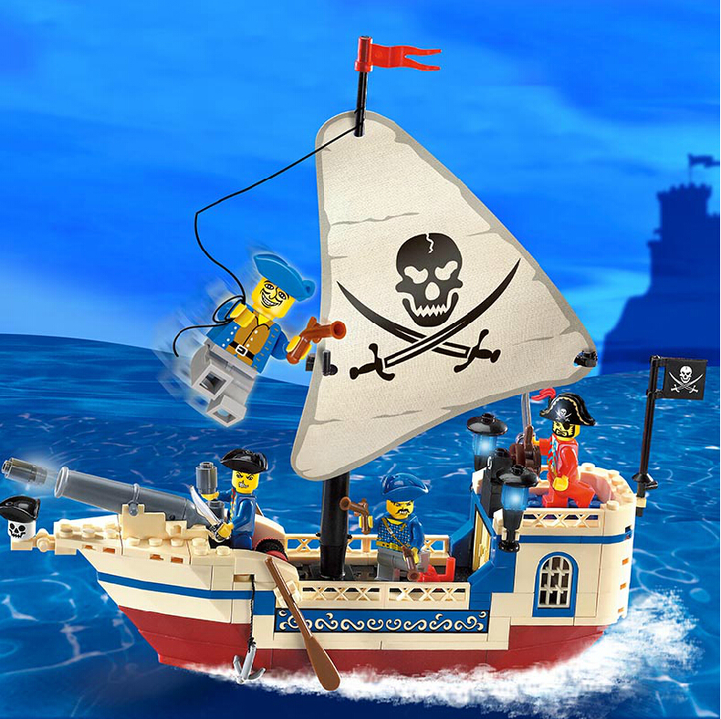 Free Shipping Enlighten Child designer 304 corsair pirates ship toys Building Block Set Brick Toy diy Toys for kid 3D Jigsaw free shipping manor 3 diy enlighten block bricks compatible with other assembles particles