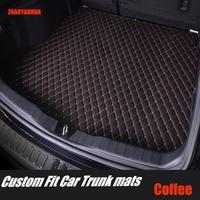 ZHAOYANHUA kofferbak matten voor Citroen C5 C4 Air Cross Picasso C2 C elysee DS5 LS DS6 5D auto styling tapijt vloer liner op