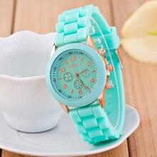 Ginebra reloj de los hombres y mujeres de Ocio reloj de cuarzo movimiento 11 cinta de color