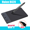 "Nuevos H420 HUION 420 Tableta de Dibujo de Gráficos 4x2.23 ""USB Pluma Digital Para Ordenador PC + Anti-fouling P0018791 Golve como Regalo"