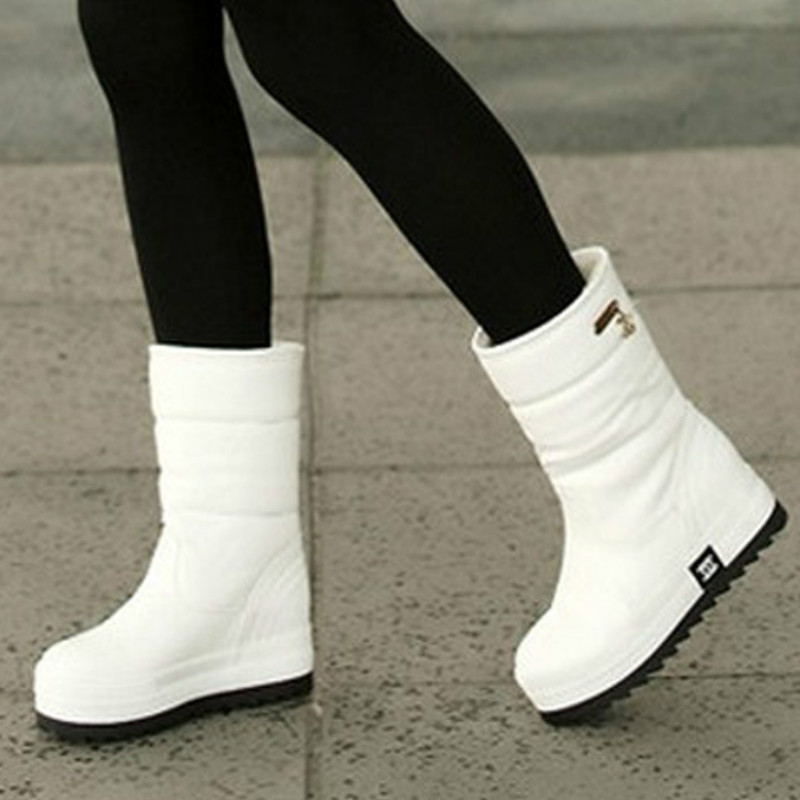 2017 winter new waterproof antiskid Mianwa thick soled boots in Korean white muffin cani ...