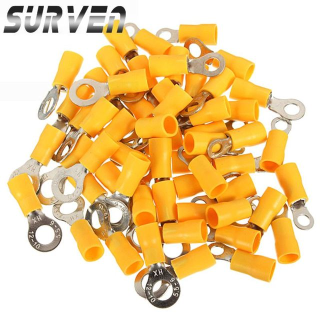 surven pcs yellow ground ring heat shrink assorted electrical, house wiring
