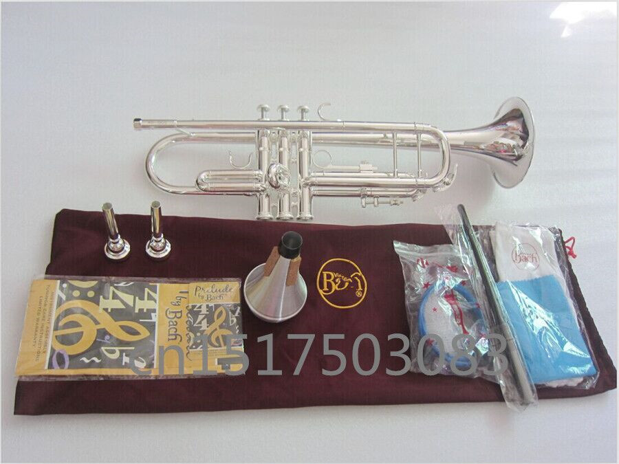 High-quality Baja trumpet Silver plated Baja trumpet AB-190S Complete fittings Free shipping instruments trumpet new genuine americano top bach trumpet gold and silver plated silver ab 190sbach small musical instruments professional