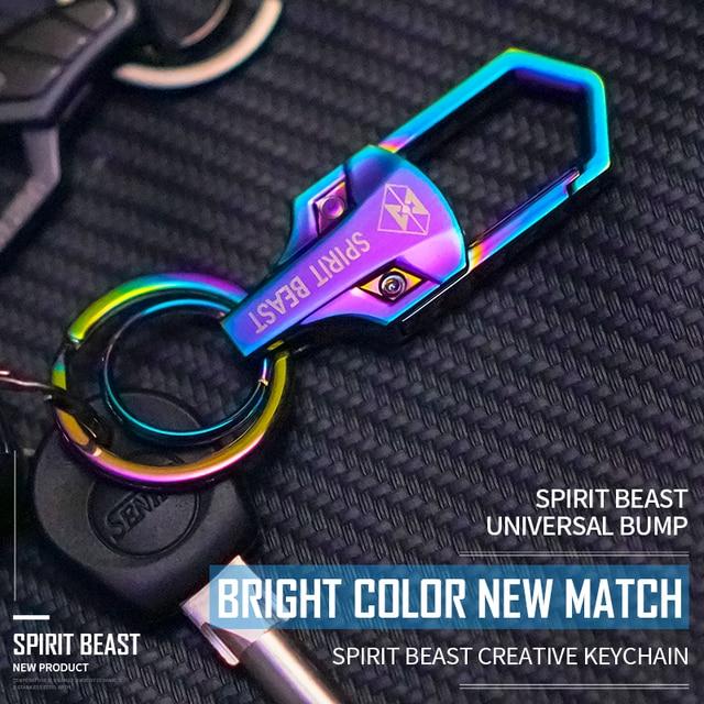 חית רוח אופנוע מפתח Refitting אבזרים דקורטיבי צבע Keychain Creative קטנוע צבע Keychain מותניים אבזם