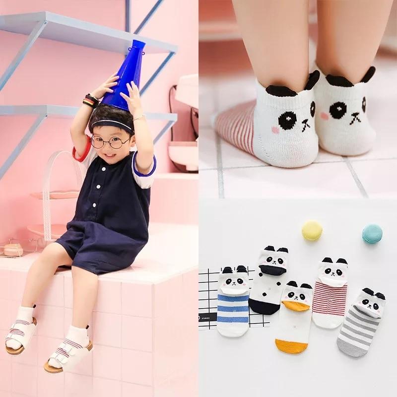 New 5 Pairs Baby Kids Cartoon Soft Cotton Socks For Age 1-12 Year Children