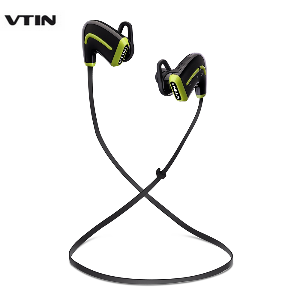 VTIN Headphone HIFI Wireless Bluetooth Sports Earphone Sweatproof Headset with Mic for iphone Samsung etc hot sale ttlife smart bluetooth 4 1 earphone upgraded wireless sports headphone portable handfree headset with mic for phones