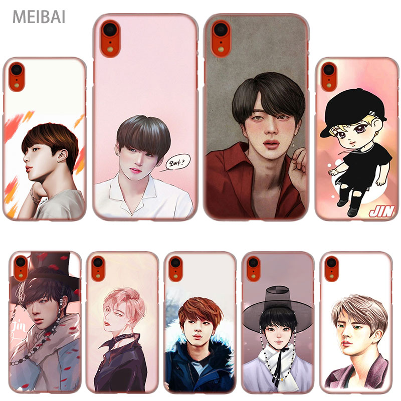 Learned Meibai Kim Seokijin Art Bts Transparent Hard Case For Iphone X 6 6s 8 Plus 7 Plus X Xr Xs 5 Se 4 Xsmax 6s Plus Iphone 7 Case Elegant In Smell Phone Bags & Cases