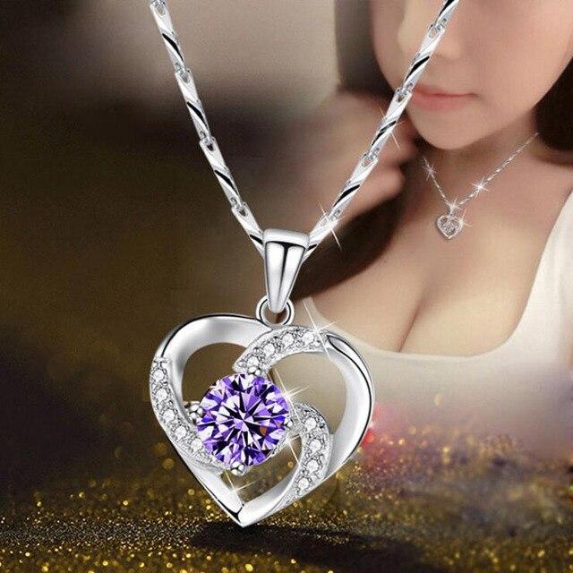 Crystal Heart Pendant & Chain 2
