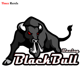Three Ratels TRL430# 15x10cm funny car stickers black bull racing  pvc colorful  car stickers and decals rookie yearbook three stickers