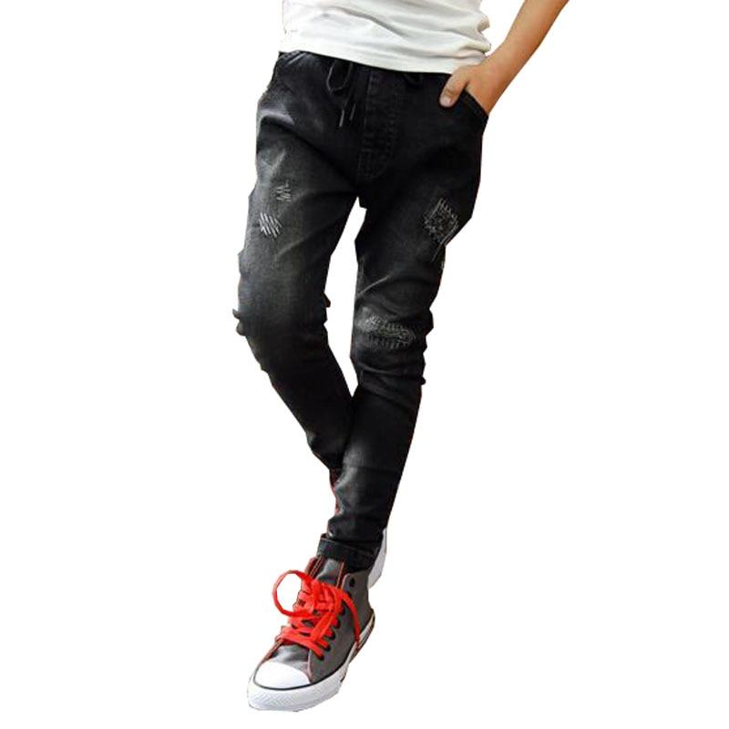 Aliexpress.com : Buy Boys pants spring autumn black jeans kids ...