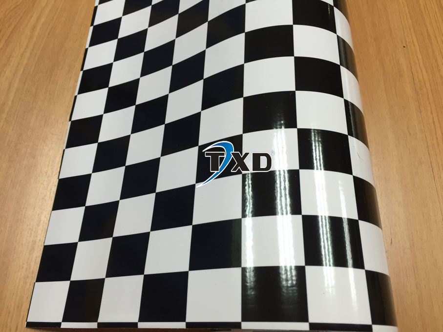 Zwart Wit Vinyl : Premium kwaliteit zwart wit grid vinyl sticker met bellen met size