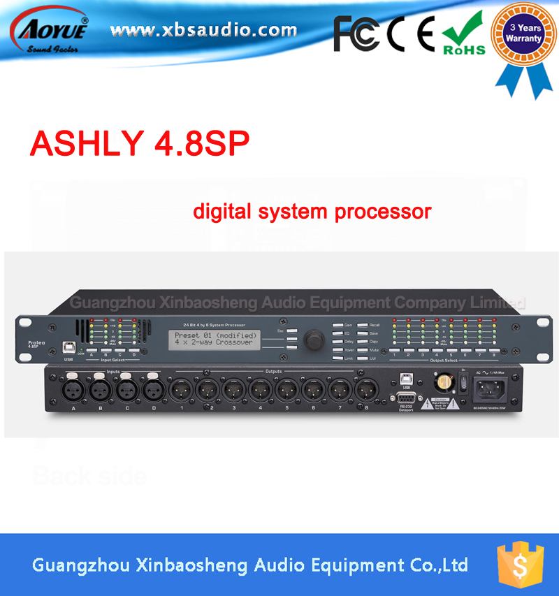 Protea Digital Speaker Processor 4.8SP 4 Input / 8 Output with copy software speaker management Sound Processor driverack wavelets processor