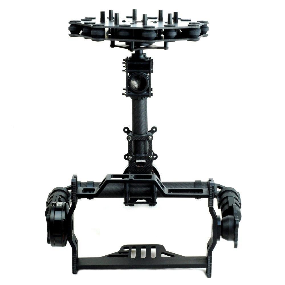 Caméra aérienne en Fiber de verre à cardan sans balai DSLR 3 axes (avec moteur)