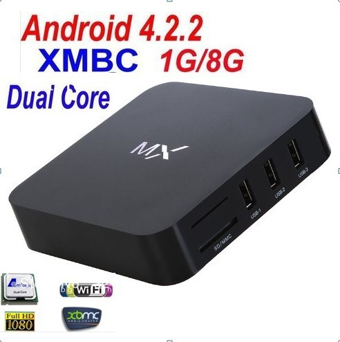 2014 XBMC dual core android 4.2 amlogic 8726 android mx2 tv box