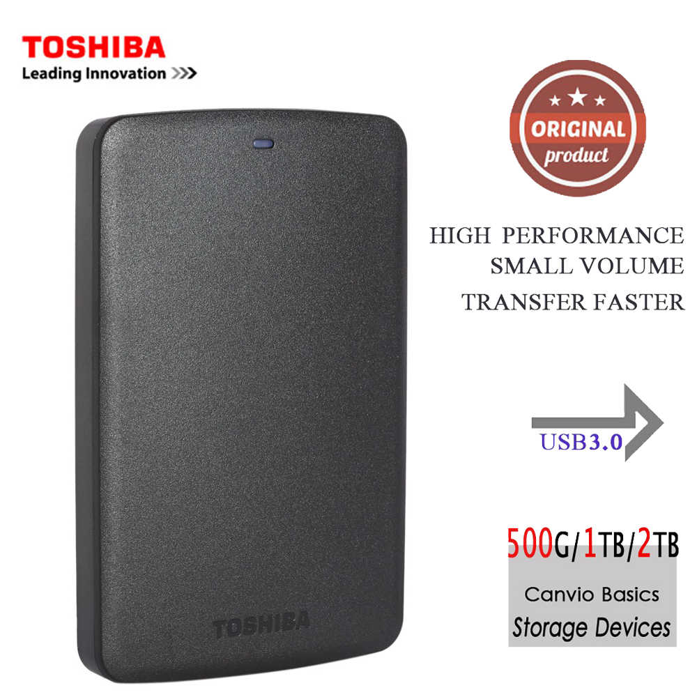 "Toshiba Portable Hard Disk Esterno HDD Mobile Canvio Basics USB 3.0 da 2.5 ""1 tb 2 tb Desktop Del Computer Portatile computer PC HDTB320YK3CA"