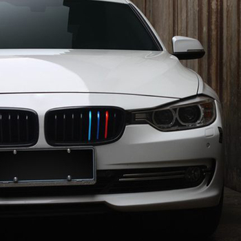 Car-Styling Front Grille Three-color Modified Reflective Car Sticker And Decal For BMW E39 E46 X1 X3 X4 X5 X6 M1 M2 M3 M5 M6 M7 image