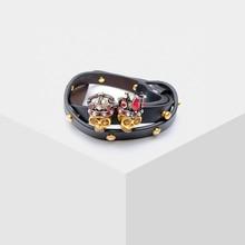 Skull design retro dual-use bracelet