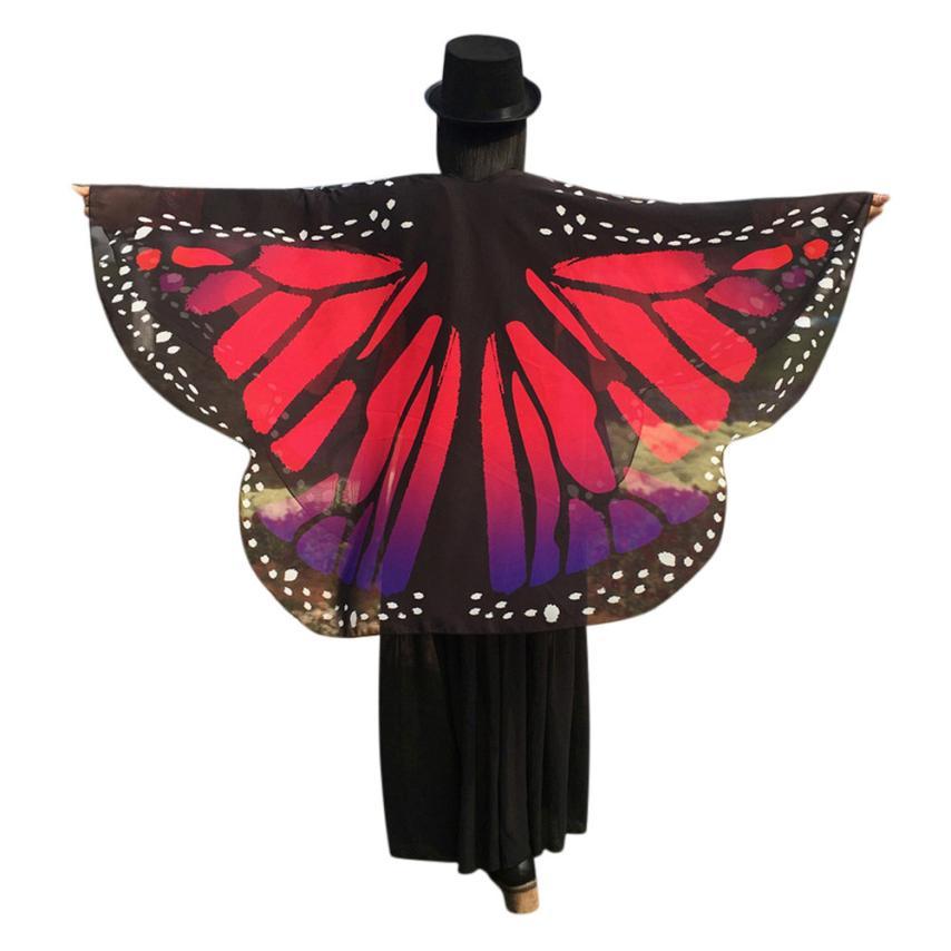 Free Ostrich Summer   Blouses     Shirt   Tops Women 2019 New Butterfly printed   Shirts   Casual Femininas Blusas Kimono Cardigan D40