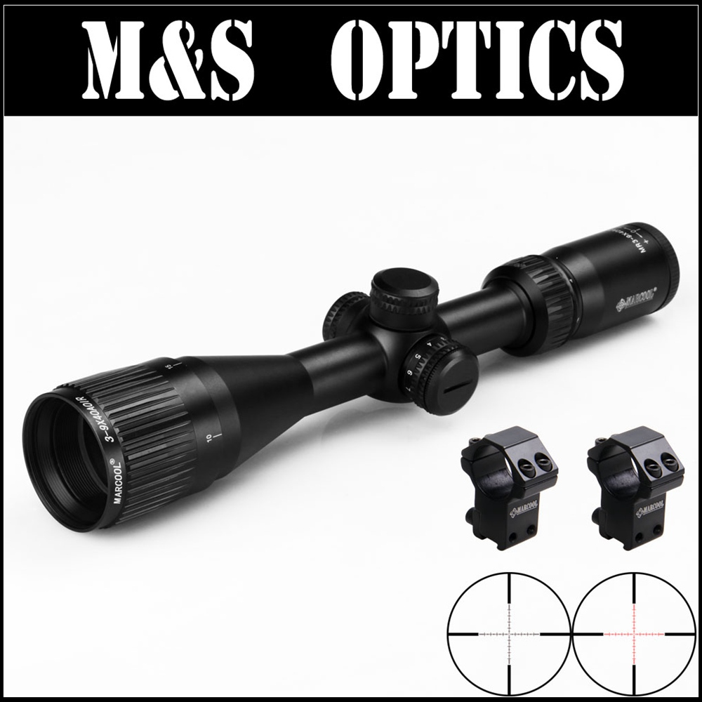 Marcool ALT 3-9X40 AOIR Red Illuminated Under 5.56 Bullet Guns Air Tactical Rifle Optical Hunting Scopes With Riflescope Mounts