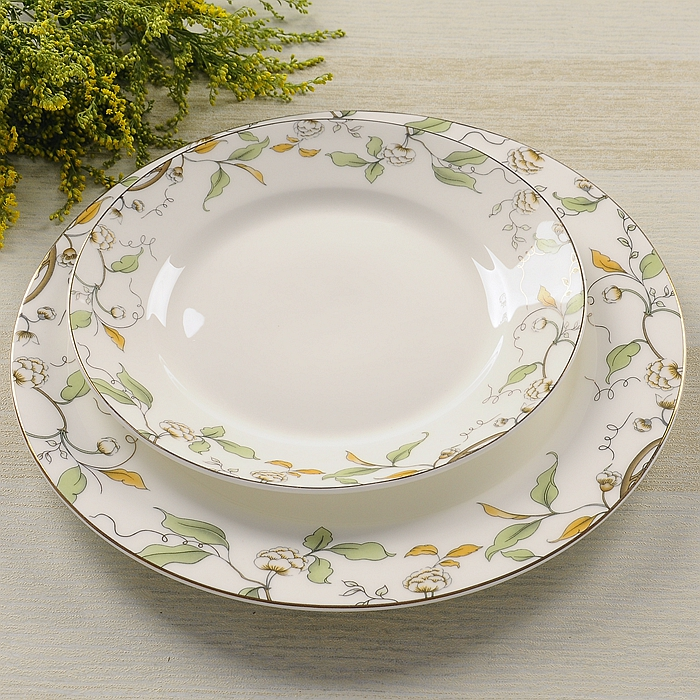 Bone China western food steak plate/ The ceramic plates with flower design/ Domestic for private use cake plate-in Dishes u0026 Plates from Home u0026 Garden on ... & Bone China western food steak plate/ The ceramic plates with flower ...