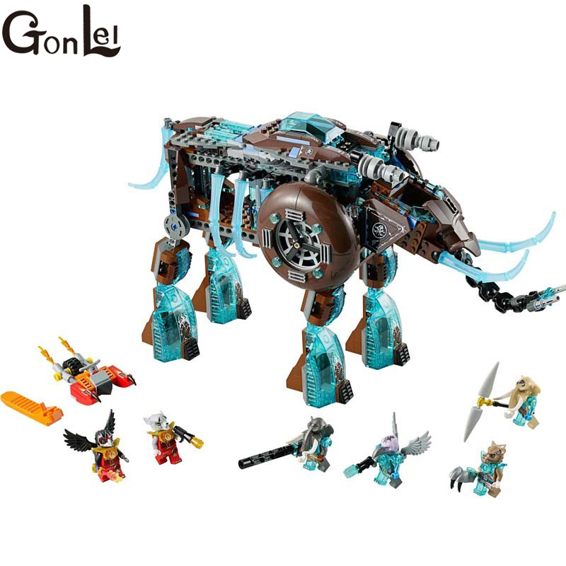 GonLeI Bela Chimaed 10297 Maula's Ice Mammoth Stomper 603pcs learn education enlighten building blocks Kids Toys 603pcs bela 10297 maula s ice mammoth stomper learn