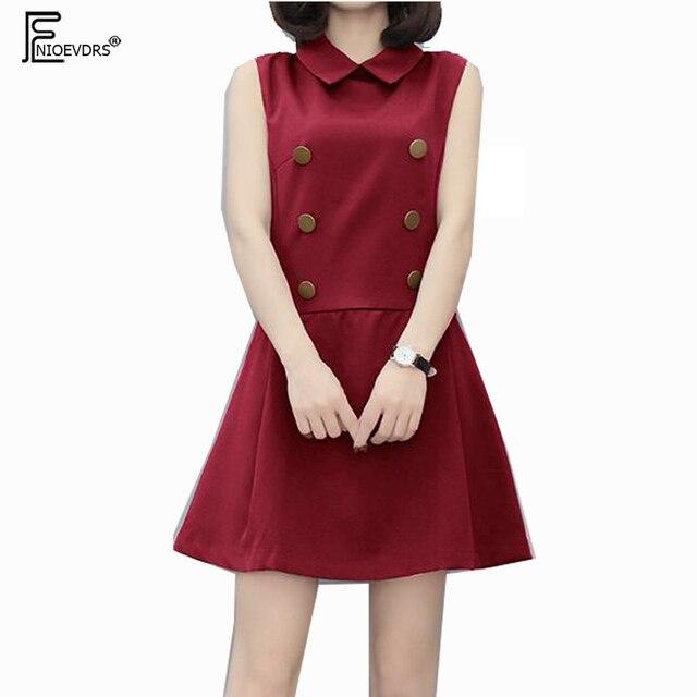 72620a8d8c Cute Sweet Dresses Japan Style Women Fashion 2018 Design Red Blue Slim A  Line Button Sleeveless