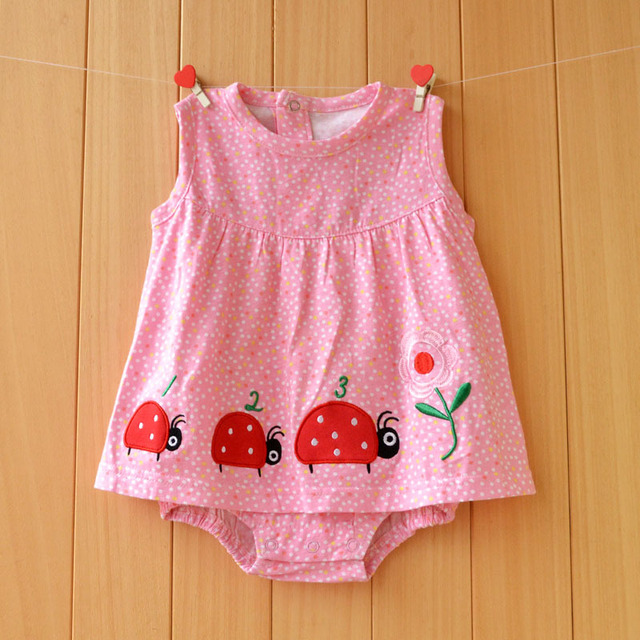 acdefb8c3d2f2 Clearance Sale Baby Girls Bodysuit Summer Infant Jumpsuit Newborn Cotton  Short Sleeve Clothing Princess Skirt Baby Girl Clothes