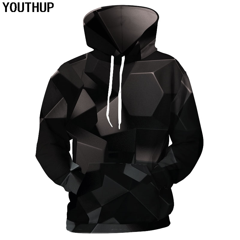 Sufier Plus Size Sweatshirt 3D Print Beautiful Starry Sky Pattern Unisex Casual Stylish Hoodies