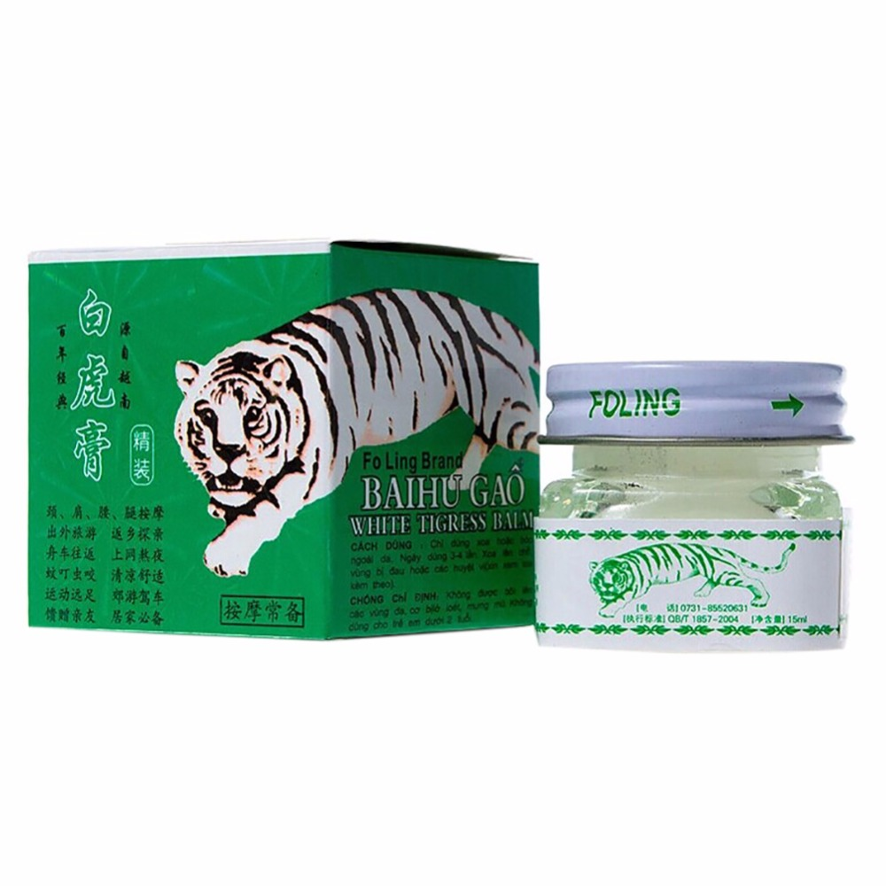 White Tiger Balm Headache Toothache Essential Oil Pain Relief Muscle Ointment Massage Rub Muscular Aches