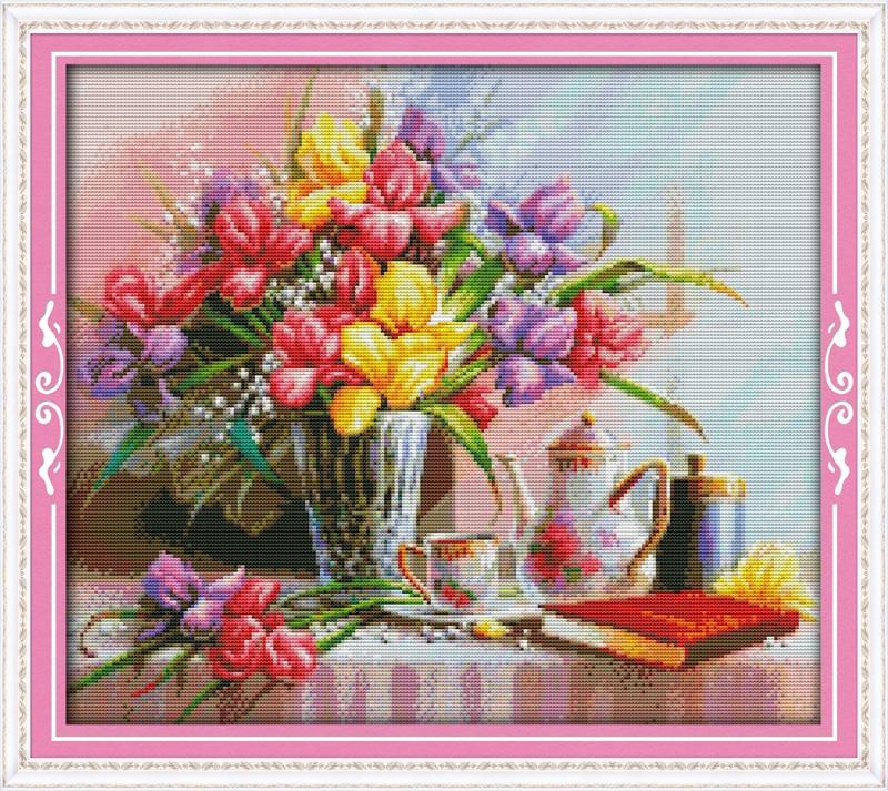 Beautiful Flowers Cross Stitch